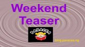 Panacea Weekend Teaser (March Saturday 25th- Sunday 26th, 2017)